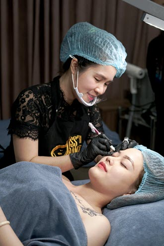 Tattooing and listening tool - Tattoo - Embroidery - Cosmetic Sculpture [Foot Eyebrow - Eye - Lip]