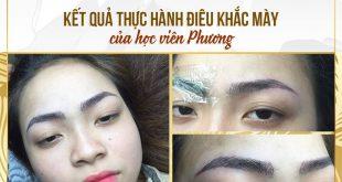 dieu khac chan may cua hoc vien phuong tai miss tram 310x165 - Kết Quả Học Viên: Học Viên Phương Thực Hành Điêu Khắc Mày