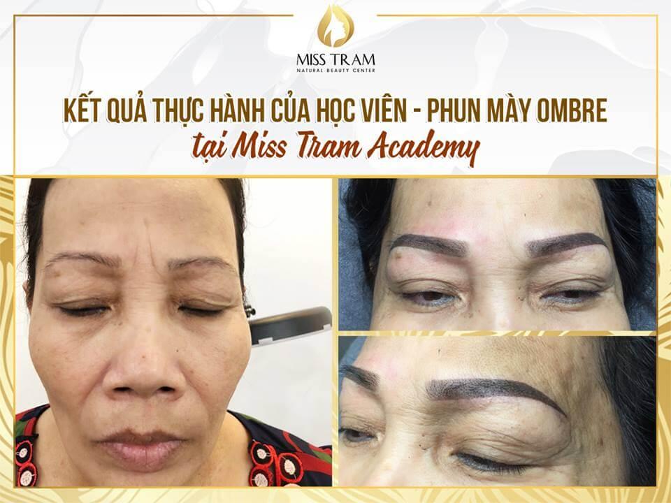 ket qua hoc vien phun may tai miss tram - Kết Quả Phun Mày Ombre Của Học Viên Tại Học Viện MissTram