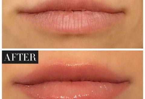 Learn how to spray the lips with the best color