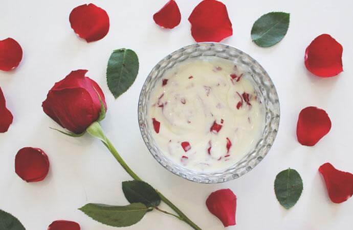 4. Sua chua va hoa hong giup lam dep da - Mặt Nạ Trắng Da Từ Sữa Chua Có An Toàn Không? Cách Điều Chế Như Thế Nào?