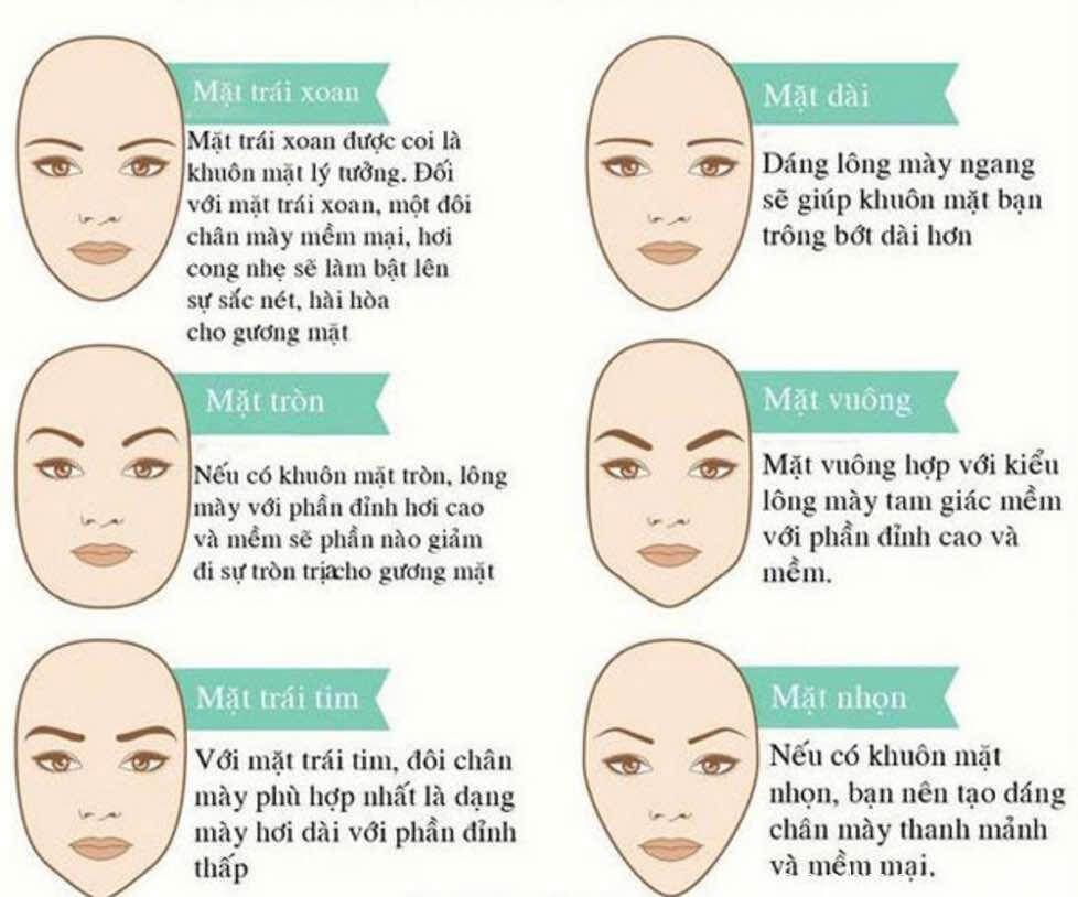 How to choose & draw eyebrows shape suitable for each face, skin color 3