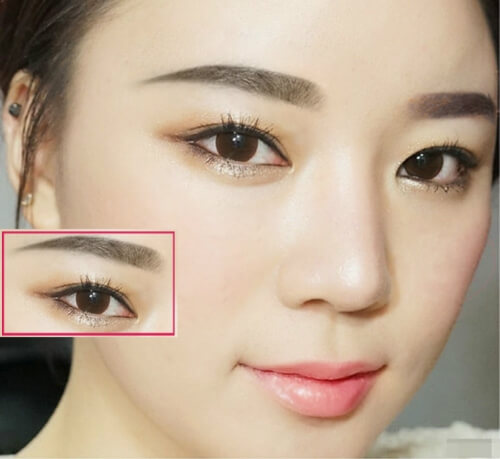 How to choose & draw eyebrows shape suitable for each face, skin color 13