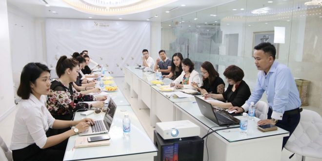 Preparing for a major event to launch Vietnam Cosmetic Embroidery Department on May 15, 2018 in Hanoi 1