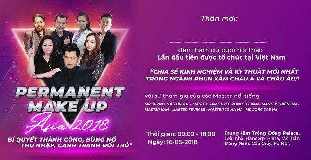 Giao lưu kỹ thuật phun xăm thẩm mỹ mới nhất châu Á & châu Âu tại Việt Nam 1