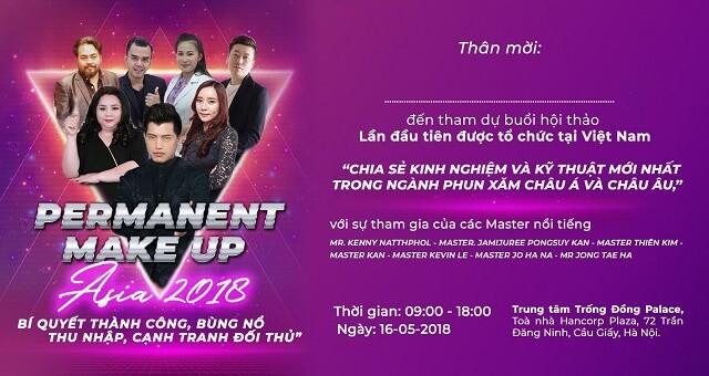 Giao lưu kỹ thuật phun xăm thẩm mỹ mới nhất châu Á & châu Âu tại Việt Nam 3