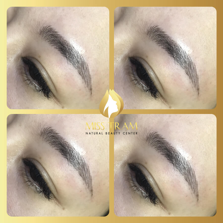 Before and After Applying Sculpting Technology of Natural Fiber Eyebrow 4