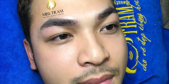 Before and After Sculpture Male Eyebrow Shaping 1