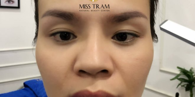 Before and After Treatment of Old Eyebrow Powder, Superfine Powder Spraying 1