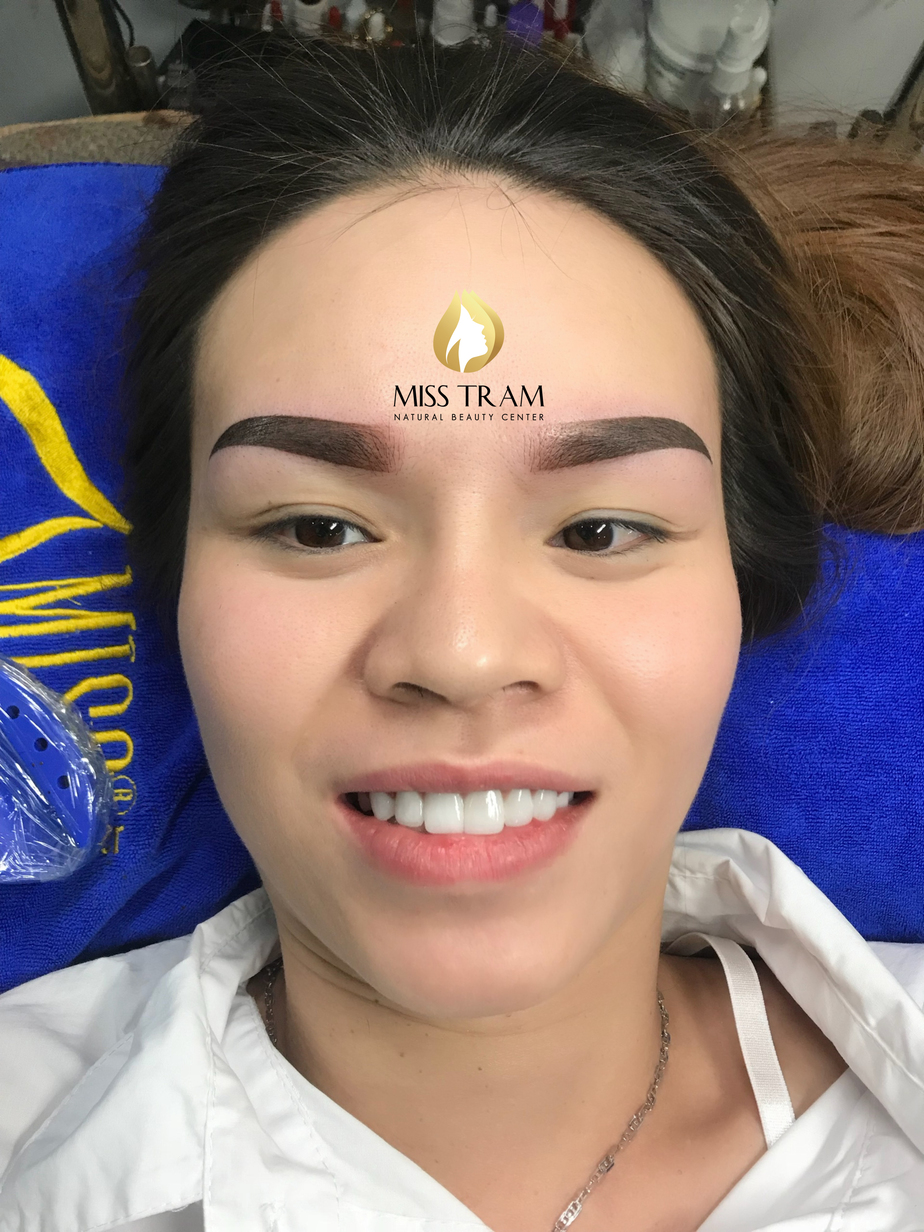 Before and After Results of Old Eyebrow Treatment, Superfine Powder Spraying 5