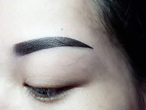 Before and After Applying Sculpting Technology of Natural Fiber Eyebrow 3