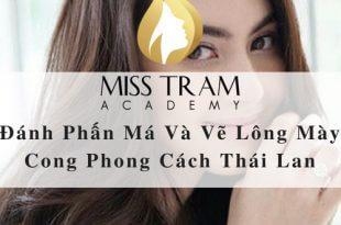 Đánh Phấn Má Và Vẽ Lông Mày Cong Phong Cách Thái Lan 2