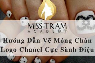 Hướng Dẫn Vẽ Móng Chân Logo Chanel Cực Sành Điệu 2