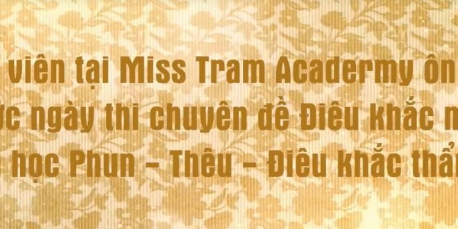 Student Miss Tram Academy Reviewing Lessons Before Exam 1