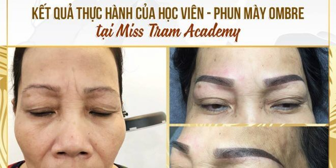 Students' Ombre Eyebrow Spray Results At MissTram Academy 1