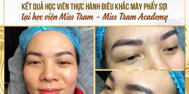 Student Results at Miss Tram Academy - Ombre Eyebrow Spray 1