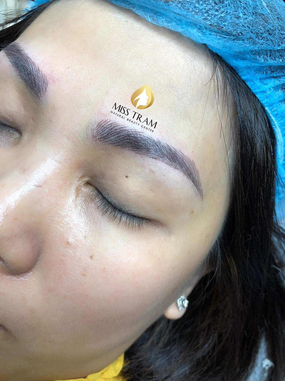 Before And After Processing Old Eyebrows - Sculpting New Fiber Eyebrows 4