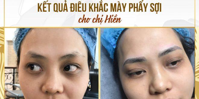 Trước Và Sau Sử Dụng Phương Pháp Điêu Khắc Mày Cho Nữ 1