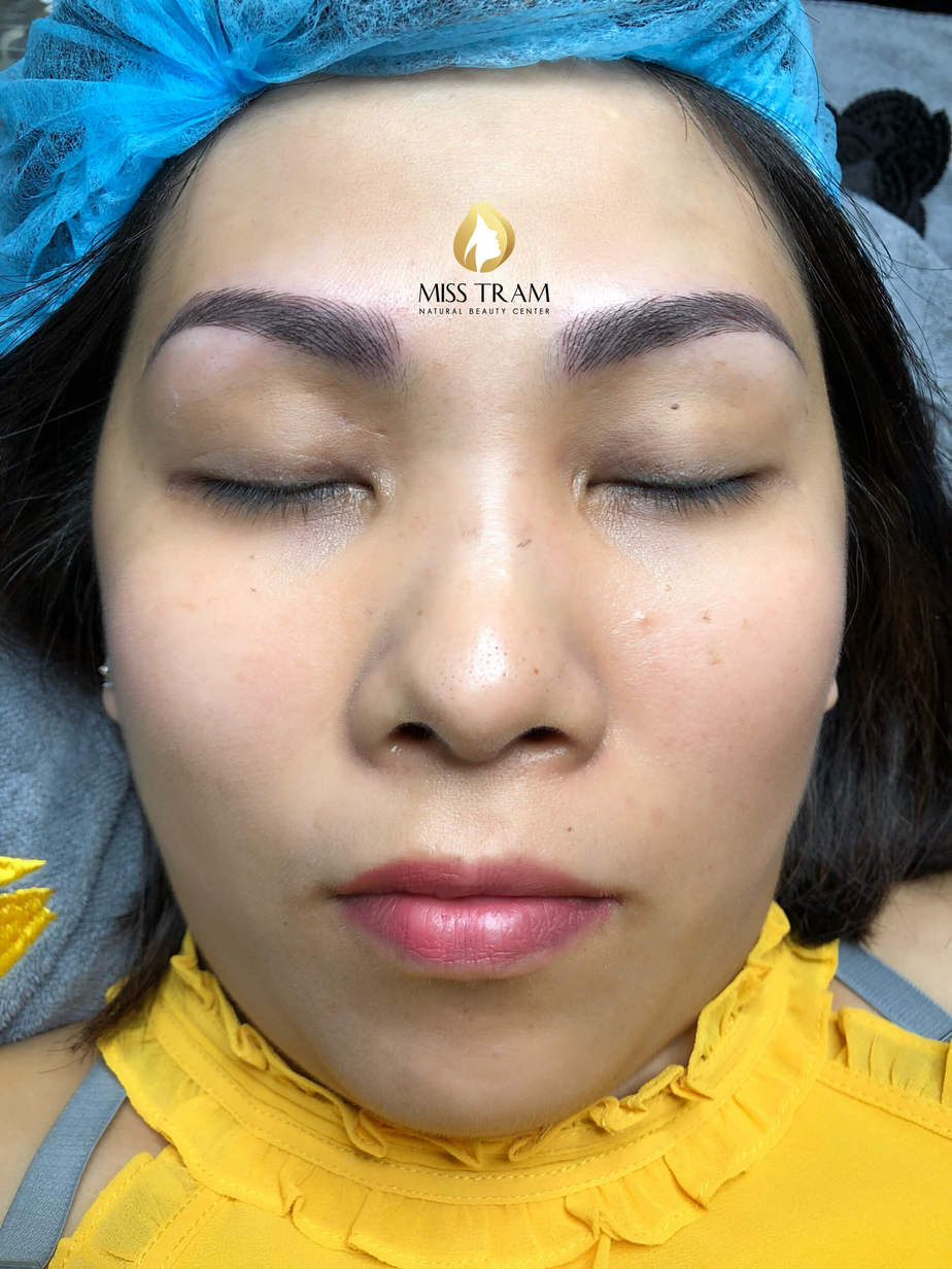Before And After Handling Old Eyebrows - Sculpting New Fiber Eyebrows 6