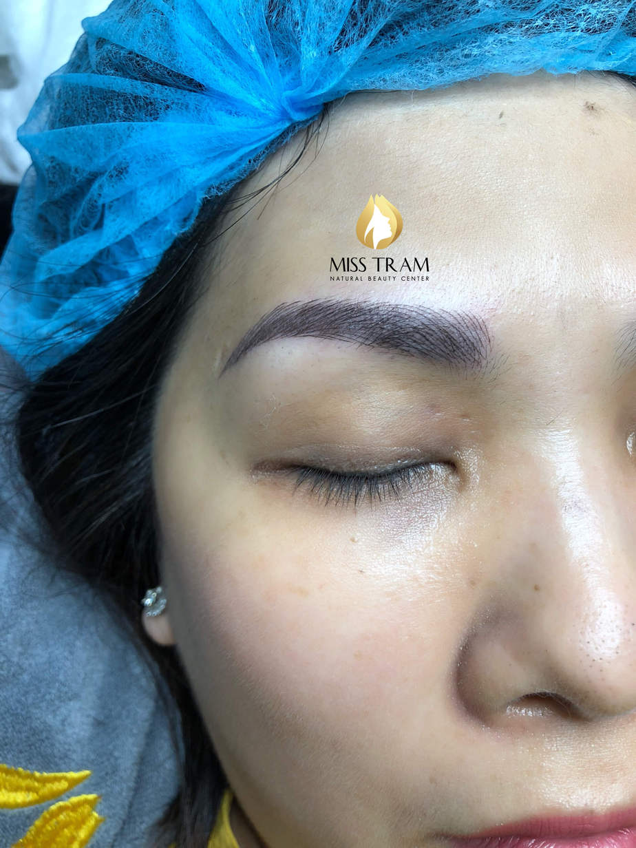 Before And After Handling Old Eyebrows - Sculpting New Fiber Eyebrows 5