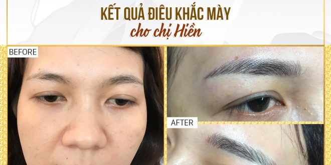 Before and After Beautifying Your Eyebrows with Scraping Sculpting Technology 1