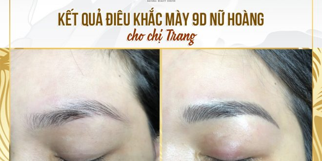 Before and After Sculpture 9D Eyebrow In Queen Ink Extract 100% From Natural Herbal Medicine 1