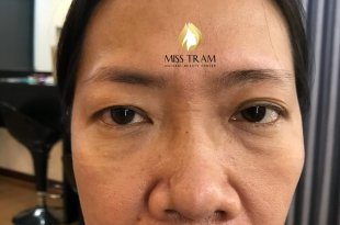 Before and After Sculpting Eyebrows with Natural Fibers 33