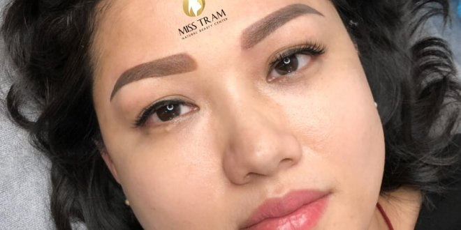 Before And After Treatment Of Red Eyebrow Powder - Super Fine Powder Spray 1