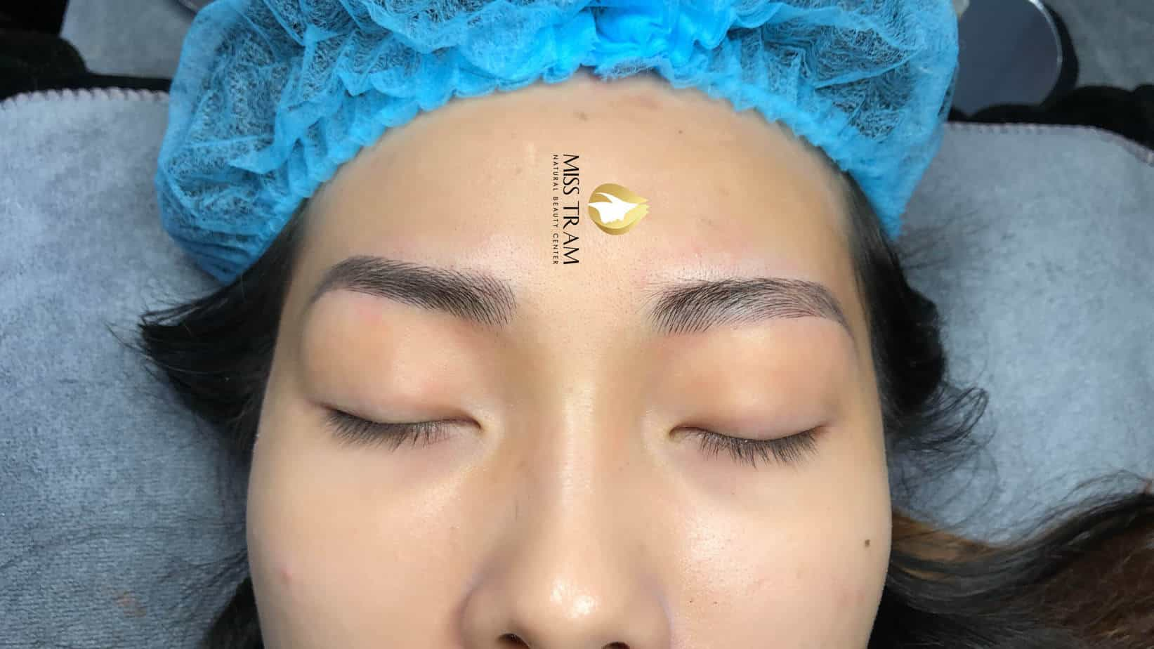 Before And After Sculpting Eyebrows With Natural Fibers For Women 4