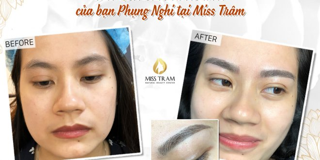 Before and After Beauty Eyebrows by Sculpting Natural Fiber 1