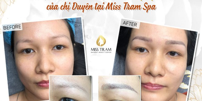 Before And After Performing Sculpted Eyebrow Scraping Natural Fiber 1