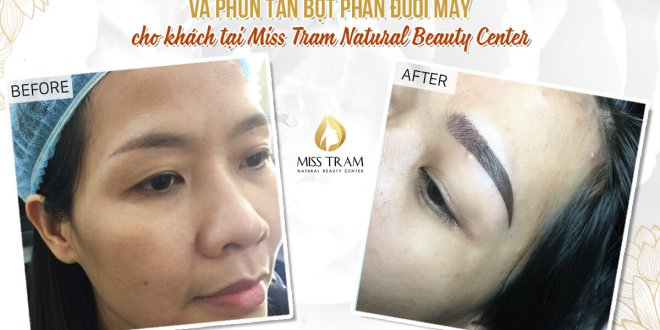 Before and After Results of Old Eyebrow Treatment Combined With Head Sculpture And Tail Powder Spraying 1