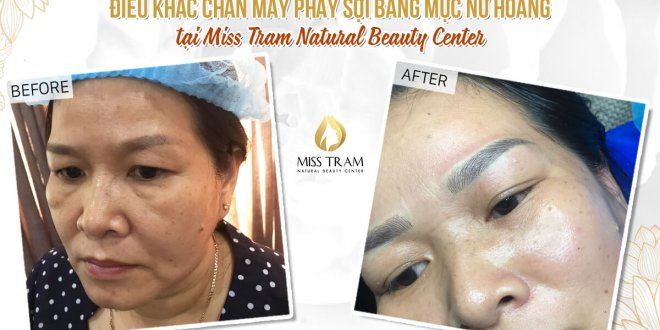 Before And After Treatment And Sculpting Eyebrows With Herbal Extract Ink 1