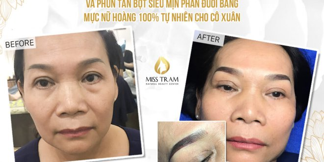 Before And After Treatment Of Blue Eyebrow Sculpting - Sculpting Head And Spraying Tail Part 1
