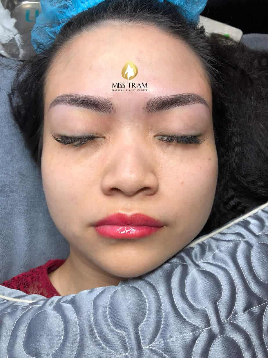 Before and After Beauty Eyebrow Sculpting Method Scraping Fiber 3