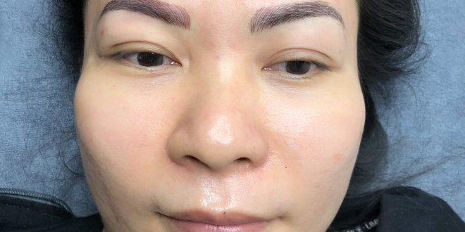 Before and After Sculpting Eyebrows Committing Fibers Create Natural Beauty 1