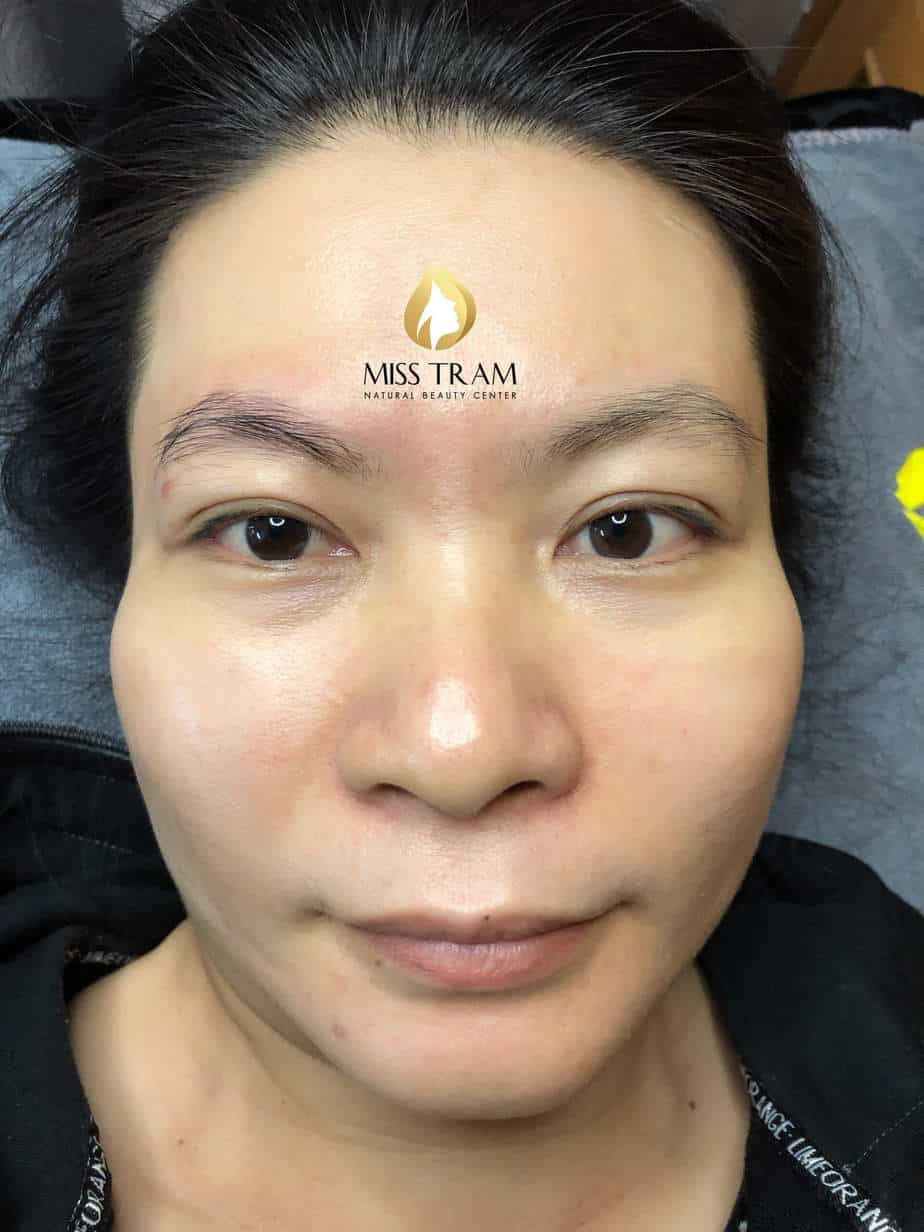 Before and After Sculpting Eyebrows with Scraping Shapes Naturally 2