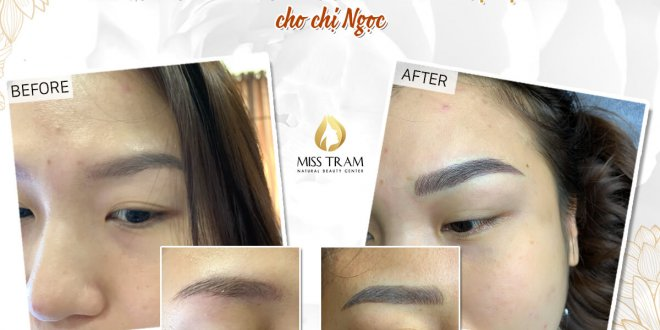 Before and After Treatment - Sculpting Eyebrows with Beautiful Natural Fibers 1