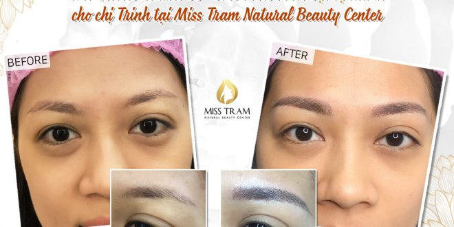 Before And After Processing Old Pale Brow - Sculpting New Brow Naturally 1