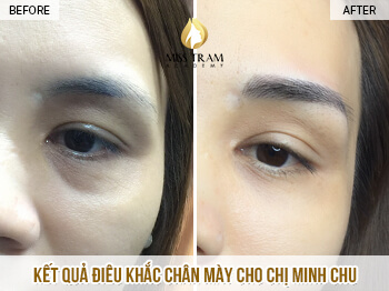 Before And After Sculpting Super Fine, Super Beautiful Eyebrows For Women 1