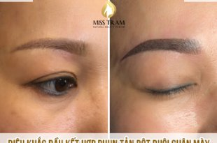 Before And After Processing Old Eyebrows - Sculpting Head, Spraying Tail Part 28