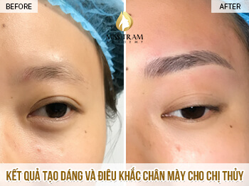 Before and After Results Shaping And Sculpting Eyebrows for Guests 1