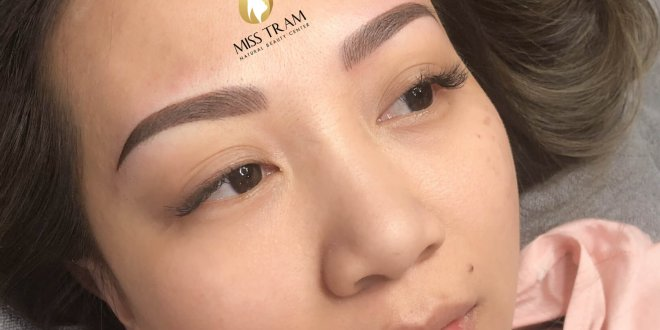 Before And After Handling Old Eyebrows - Head Sculpting And Tail Spraying For Women 1