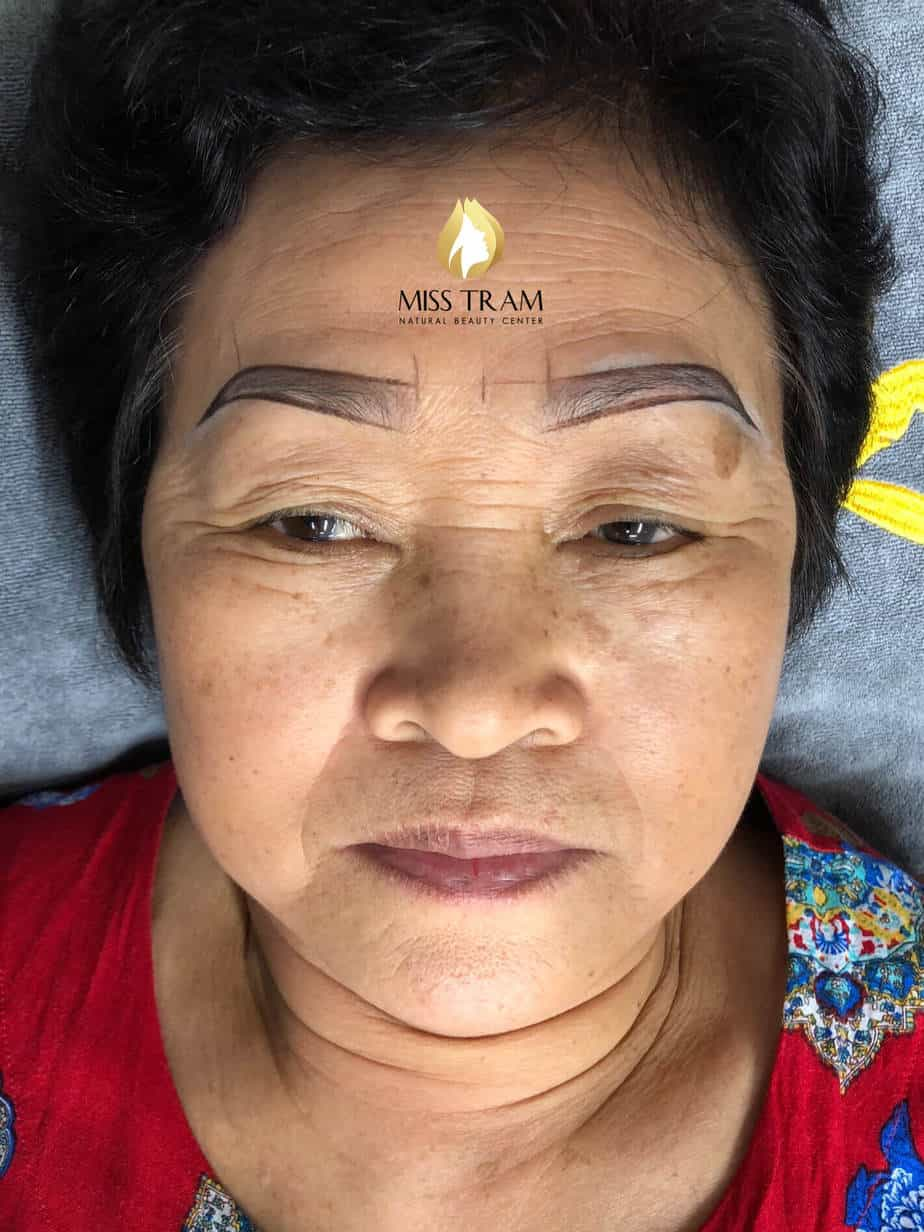 Before And After The Old Eyebrows - Head Sculpting Combined With Tail Powder Spray For Women 3