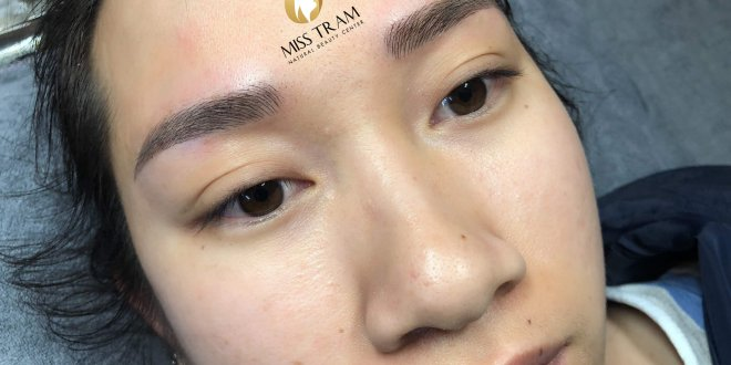 Before and After Performing Female Eyebrow Sculpture 1