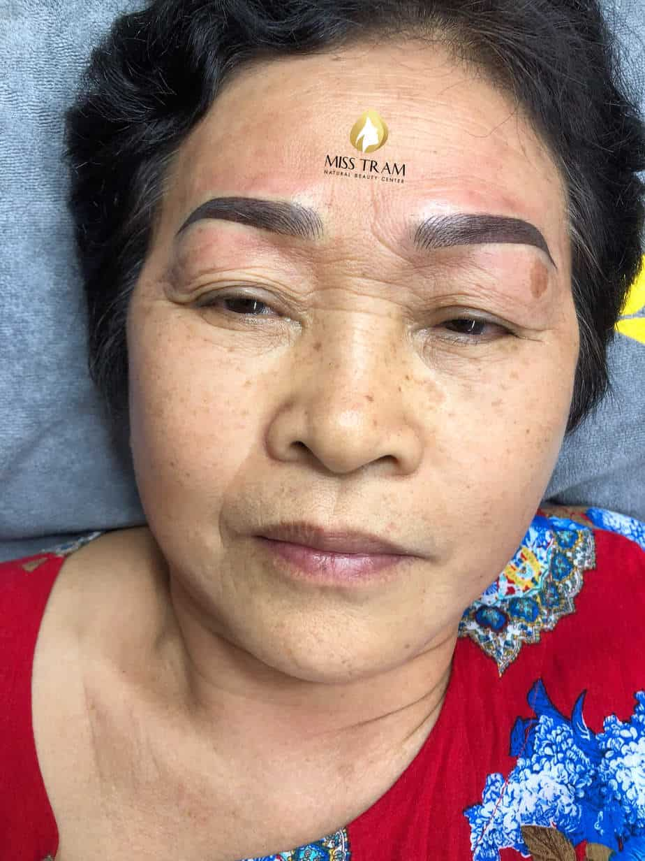 Before And After Old Eyebrows - Head Sculpting Combined With Powder Puff For Women 4