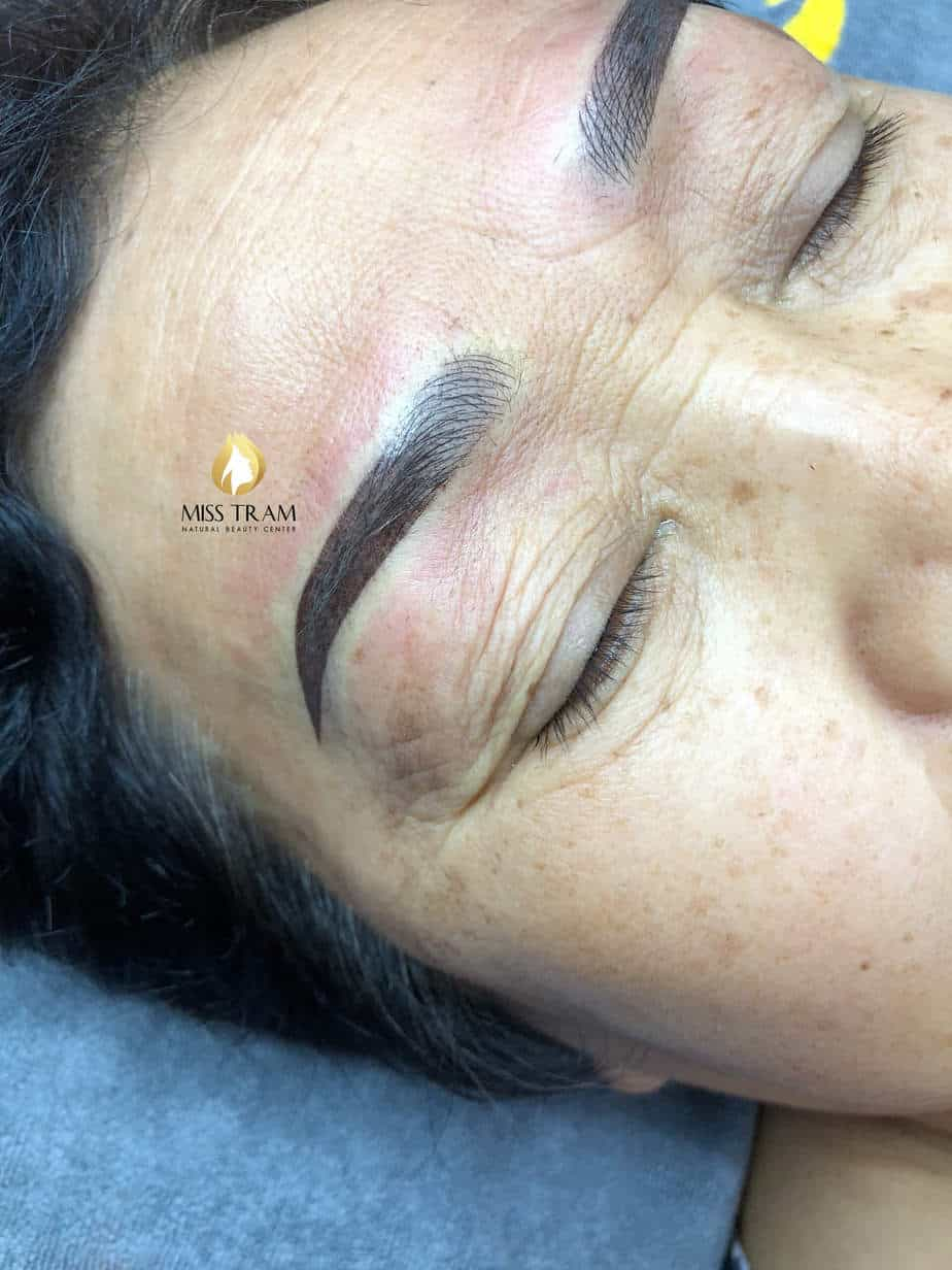 Before And After Processing Old Eyebrows - Head Sculpting With Puff Powder For Female 5