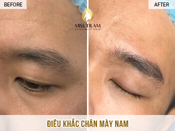 Before and After Results Sculpting Eyebrows Using Natural Herbal Ink 1