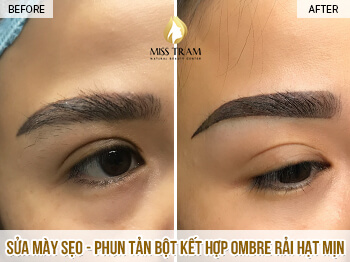 Before And After Remedy Your Old Eyebrows - Ombre Combined Powder Spray 1
