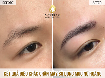 Before and After Results of Sculpting Queen Eyebrows At Spa 1